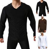Sudadera con capucha para hombre Soft Camisas casuales Manga larga Otoño Invierno Deporte Yoga Jerseys Tops