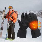 Unisex Touchscreen Battery Heated Windproof Warm Full-finger Heating Gloves