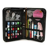Kit de couture multifonctionnel ensemble fil enfileur aiguille ruban mesure de stockage en ciseaux