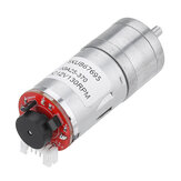 Machifit 25GA370 DC 12V Micro Gear Reduction Motor with Encoder Speed Dial Reducer