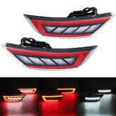 Coppia LED Paraurti Posteriore Coda Riflettore Luce Freno lampada Per Ford Ecosport II 2013-2019