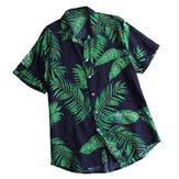 Mens Summer Vacation Beach Floral Printed Hawaiian Shirts