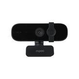 Rapoo C280 Webcam USB HD 2K Kamera Wbudowany wielokierunkowy podwójny mikrofon z redukcją szumów 85 ° Szerokokątny kąt widzenia Obrót w poziomie 360 °