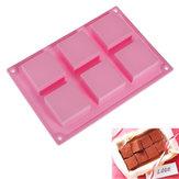 سيليكون 6-كافيتي ساحة الشوكولاته هلام الجليد Cube قالب الكعكة العفن
