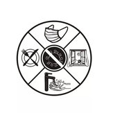Epidemic Prevention Window Background Wall Washing Hands Healthcare Sticker for Home Floor Decor