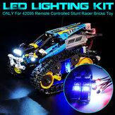 DIY LED-lichtverlichtingsset voor LEGO 42095 Op afstand bestuurbaar stuntracer-stenen speelgoed