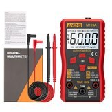 ANENG M118A Digitaler Mini-Multimeter-Tester Auto-Multimeter-True-Rms-Transistor-Messgerät mit NCV Data Hold 6000 Counts Taschenlampe