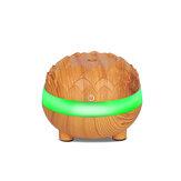 300 ml humidificateur d'air à ultrasons à grain de bois purificateur d'air silencieux diffuseur d'huile essentielle avec 7 couleurs LED lumières