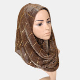 Women Wicked Sequined Headband Scarf Arabian Shawl