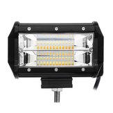 5 inch LED Barra luminosa da lavoro Guida lampada Flood Pod a doppio colore per rimorchio per fuoristrada 4WD