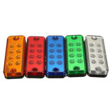 12V 8 LED Side Marker Cahaya Lampu Truk Trailer Lorry Caravan Tahan Air