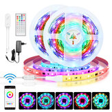 BlitzWolf® BW-LT31 5M/10M Built-in IC Smart Wi-Fi RGB Magic LED Strip Light+40Keys IR Remote Control Work with Alexa Google Assistant Christmas Decorations Clearance Christmas Lights