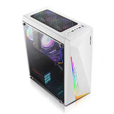RGB Light Acryl Side PC Gaming Case Support ATX / MATX / ITX Backline