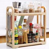 Standing Rack Kitchen Bathroom Cup Jar Spice Storage Organizer Shelf Holder