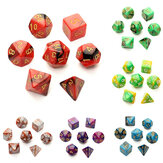 7pc / Set TRPG Games Gaming Dices D4-D20 Multi-sided Dices 6Color
