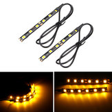 12V Pair 6 LED 5050 Motorcycle Strip Turn Signal Indicator Blinker Light Amber