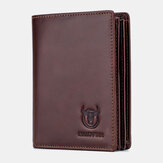 Bullcaptain Men Anti-theft Genuine Leather Wallet