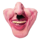 Halloween Latex Half Face Mask funny Scary Masquerade for Holiday Festival Adornment