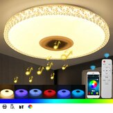 220V 40cm Bluetooth WIFI LED Ceiling Light RGB Music Speeker Dimmable Lamp APP Remote