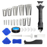 31Pcs Caulking Nozzle Silicone Sealant Remover Tool Kit Set Useful Door Window Cleaning Tools Scraper Caulking Removal For Glass Glue