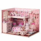 Cuteroom DIY Wood Dollhouse Kit Miniature With Furniture Doll House Room Angel Dream