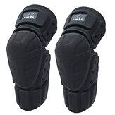 1 Par al aire libre Moto Rodillera Moto Bicicleta Protector negro Almohadillas protectores de rodilla