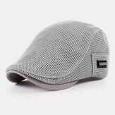 Erkekler Polyester Düz Renk Breathless İnce Mesh Şapka Yaz Outdoor Güneşlik Güneşlik Bere Şapka İleri Şapka