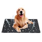 Fiber Pet Dog Cat Soft Letnia mata chłodząca Łóżko Chilly Pad Poduszka czarna S / M / L / XL