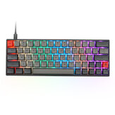 Geek Disesuaikan SK64S 64 Tombol Keyboard Gaming Mekanik NKRO bluetooth 5.1 Type-C Mode Ganda RGB Backlight PBT Keycaps Keyboard Saklar Optik Gateron