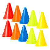 10Pcs/Set Plastic Training Cones Sport Marking Cups Soccer