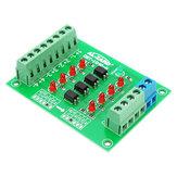 24V Para 5V Painel de isolamento de 4 canais Optocoupler Módulo isolado PLC Nível de sinal Tensão Conversor Placa 4Bit