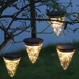 50LED Solar Powered Asma Işık Lamba Ampuller Bahçe Işıklar Outdoor Veranda Dekor