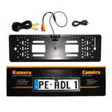 170° 4LED Car License Plate Frame Rear View Backup Camera Auto Reverse European