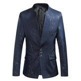 Men's Casual Slim Stand Collar Printing Blazers
