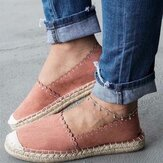 Women Casual Comfy Breathable Espadrille Flat Slip On Flats