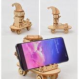 O mais novo DIY 3D Puzzle de madeira Brinquedo de montagem Presente para crianças Adulto Suporte de telefone Suporte de telefone