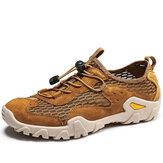 Chaussures de randonnée décontractées antidérapantes à séchage rapide en tissu pour hommes