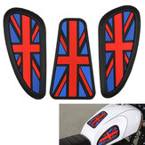 3PCS Retro Motorcycle Cafe Racer Gas brandstoftank Rubber Sticker Protector Schede Knie Tank Pad Grip Decal: