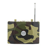 25W Rechargeable Camouflage Hunting Speaker Sound Decoy 100Hz-10KHz FM Radio MP3 Player with Remote Control for Hunting Meeting Tour Guide