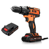 TOPSHAK TS-ED2 21V Brushless Cordless Impact Drill 2000mAh Rechargeable 2 Speeds LED Electric Drill W/ 1/2pcs Battery