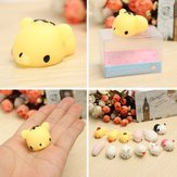 Tiger Squishy Squeeze Cute Healing Toy 4 * 3 * 2,5 cm Kawaii Collection Stress Reliever Gift Decor
