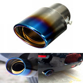 1Pcs Universal Car Auto Stainless Steel Exhaust Muffler Tailpipe Modification