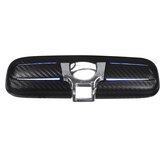 Cobertura do espelho retrovisor interno do carro em fibra de carbono com luz azul para HONDA CIVIC CRV ODYSSEY