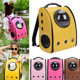 Dog Cat Pet Astronaut Capsule Backpack Carrier Box Dengan Penutup Bernapas Transparan