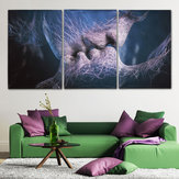 3pcs Love Kiss Abstract Canvas Schilderijen Afbeeldingen Home Room Decor Unframed