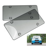 Tinted Clear Smoke License Plate Tag Frame Cover Shield Car Truck