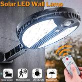70 LED remoto Luz da parede de energia solar PIR Movimento Sensor Luzes solares ao ar livre Lâmpada de jardim