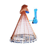 YEUX 1.5M / 2.1M Cast Net Easy Throw Catch Fishing Net Outdoor Hunting Hand Throw Network Small Mesh Fish Trap Network Ring Rzucanie rzucanej sieci