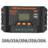 LCD10/15/20/25/30A12V/24VPWM Solar Panel Düzenleyici Şarj Kontrol Cihazı