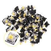 70 ADET Paketi 3Pin Gateron Doğrusal Sarı Anahtarı Mekanik Oyun Klavye için Klavye Anahtarı